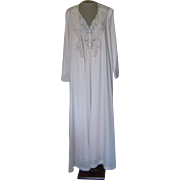 Vintage Light Pink Olga Nightgown and Robe