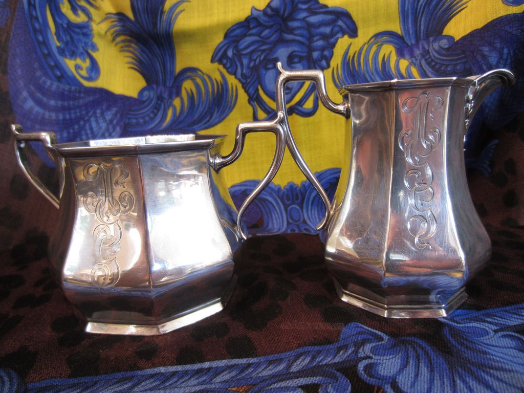 Sterling Creamer Pitcher and Sugar Bowl