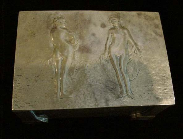 Arts & Crafts Bronze Box with Nudes