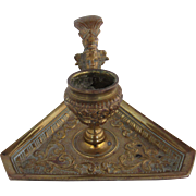 French Gilded Bronze Chamberstick or Candle Holder