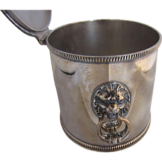 Silver-plate Large Tea Caddy or Box