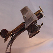 Austro-Hungarian Silver Biplane Watch Stand
