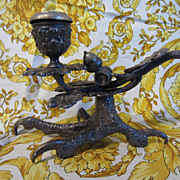 Victorian Figural Chamber Stick