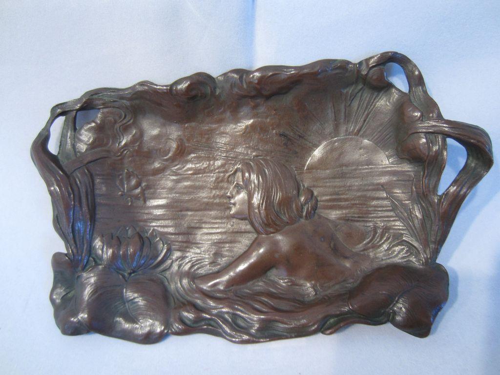 Art Nouveau Bronze Tray