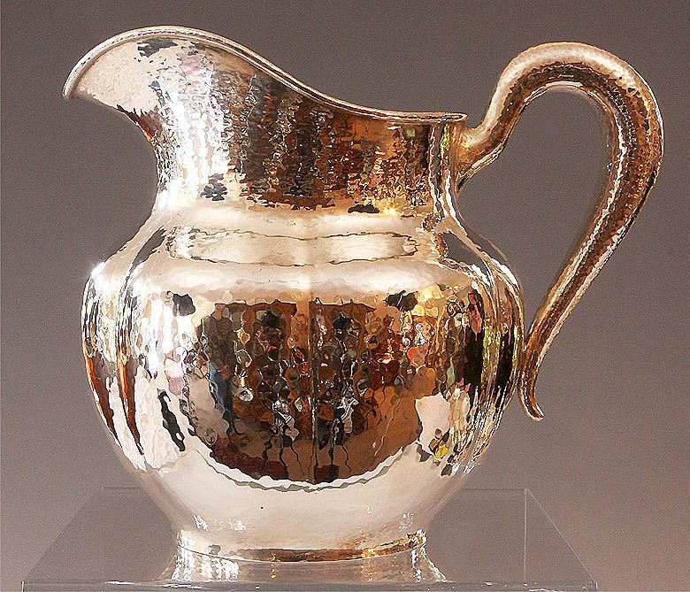 Antique Sterling Silver Hammered Pitcher