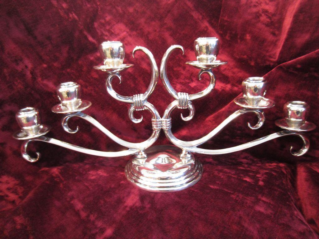 Sterling Silver Candelabra by Ortega