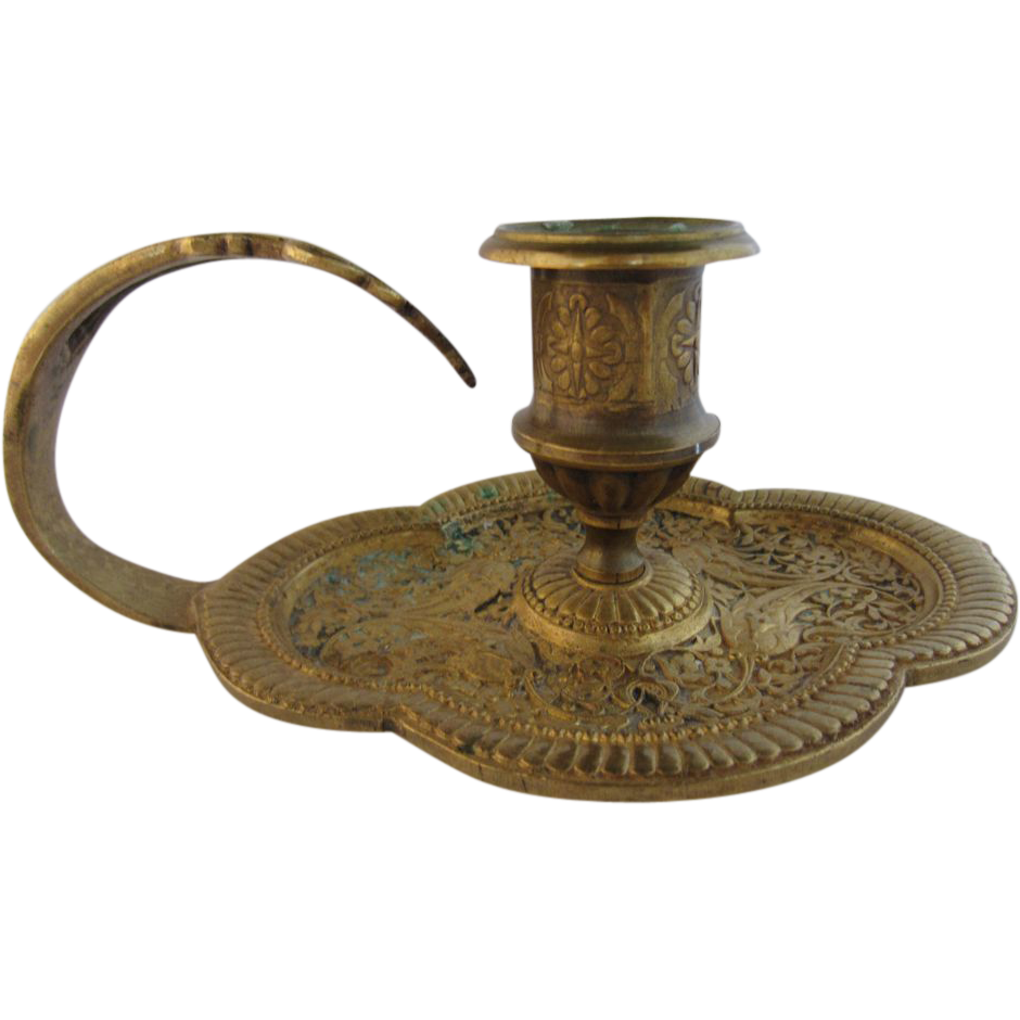 Gilded Bronze Candle Holder
