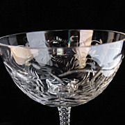 Lovely Cut and Polished Wine Glasses