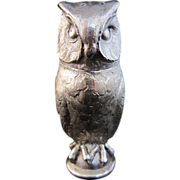 Silver Owl Salt or Pepper Shaker