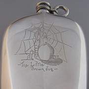 "Sterling Silver ""The Little Brown Jug"" Flask"