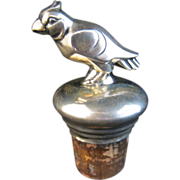 Silver Parrot Bottle Stopper