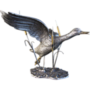 Italian Silver Flying Duck