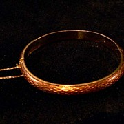 18K Yellow Gold Guilloche Bracelet