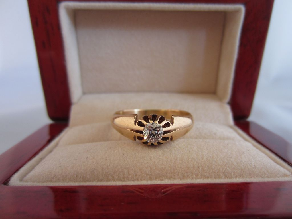 Victorian Diamond and 14k Rose Gold Ring