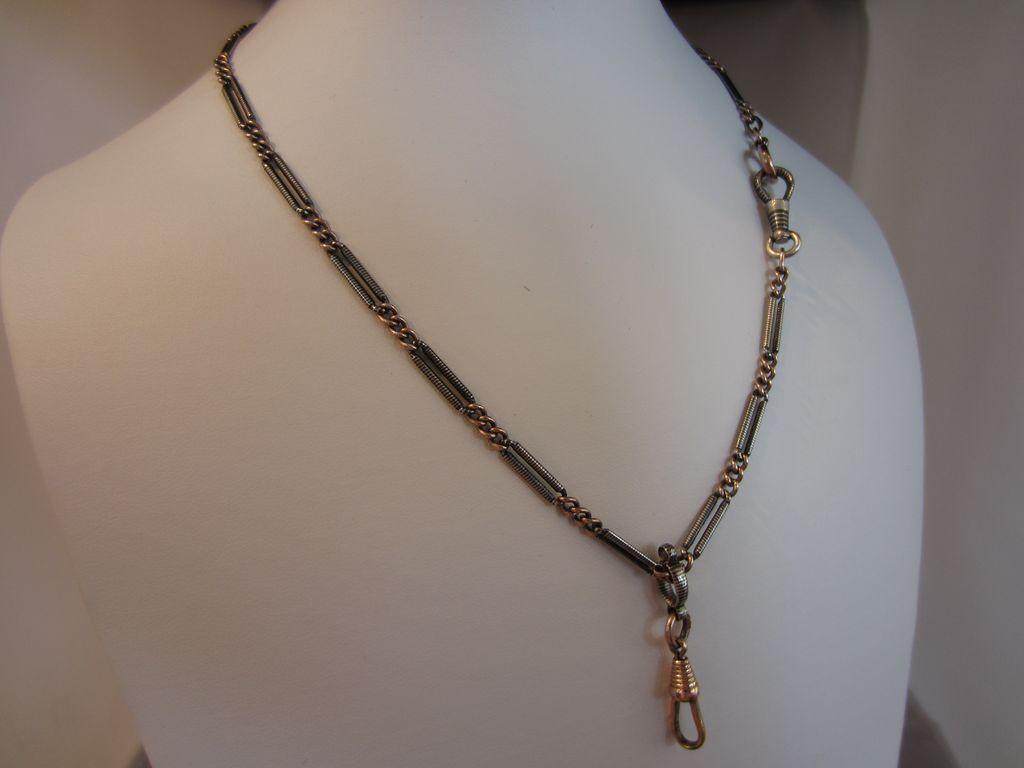 Victorian Silver Niello Chain