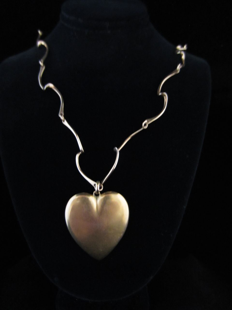 Unique 14k Yellow Gold Chain with Heart Pendant