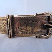 Enamel and 14k Gold Buckle Bracelet