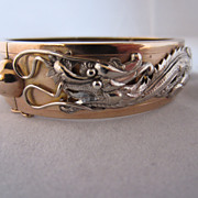 Unique 14k Two-Tone Dragon Bracelet