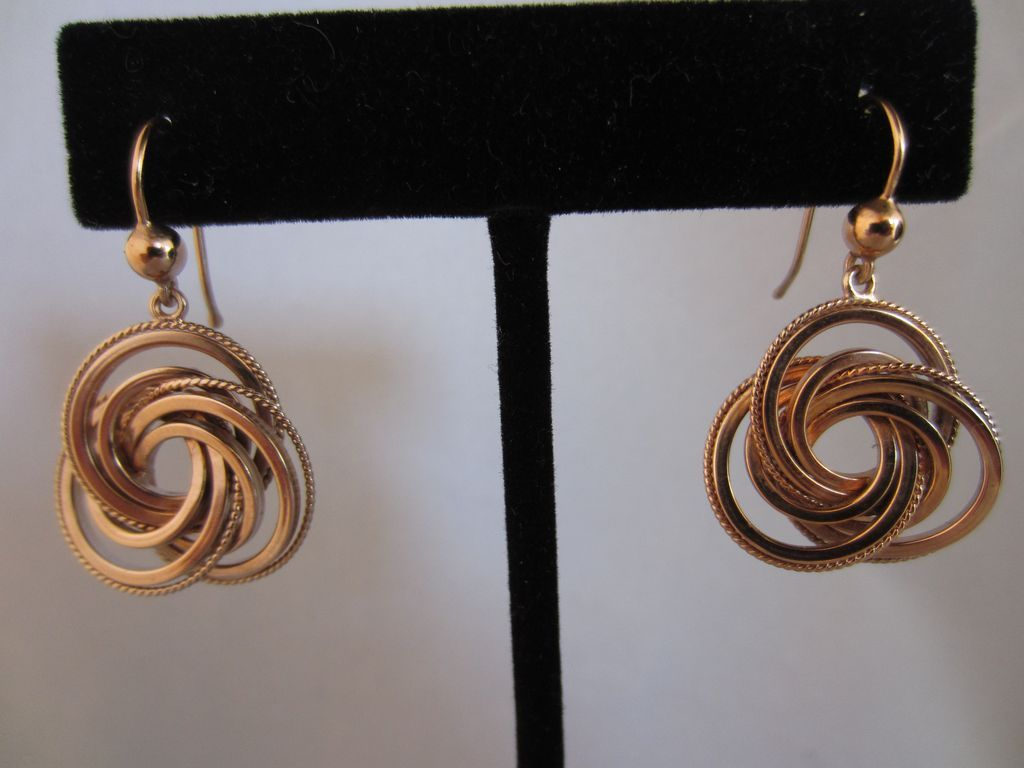 9k Rose Gold Knot Earrings