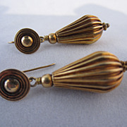 Victorian Gilded Silver Drop Earrings