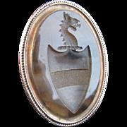 Georgian Agate and 15k Rose Gold Seal Fob