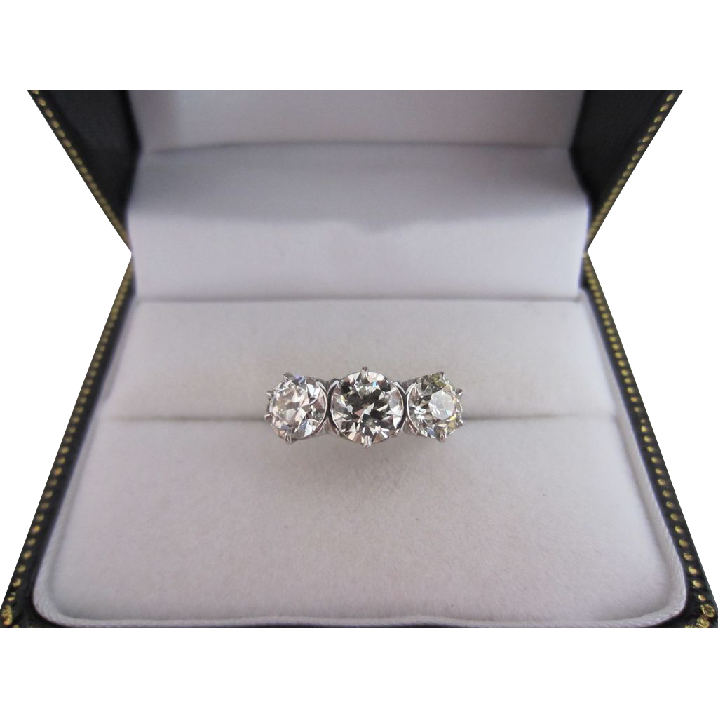 2.93 Carat Total Weight Diamond Ring