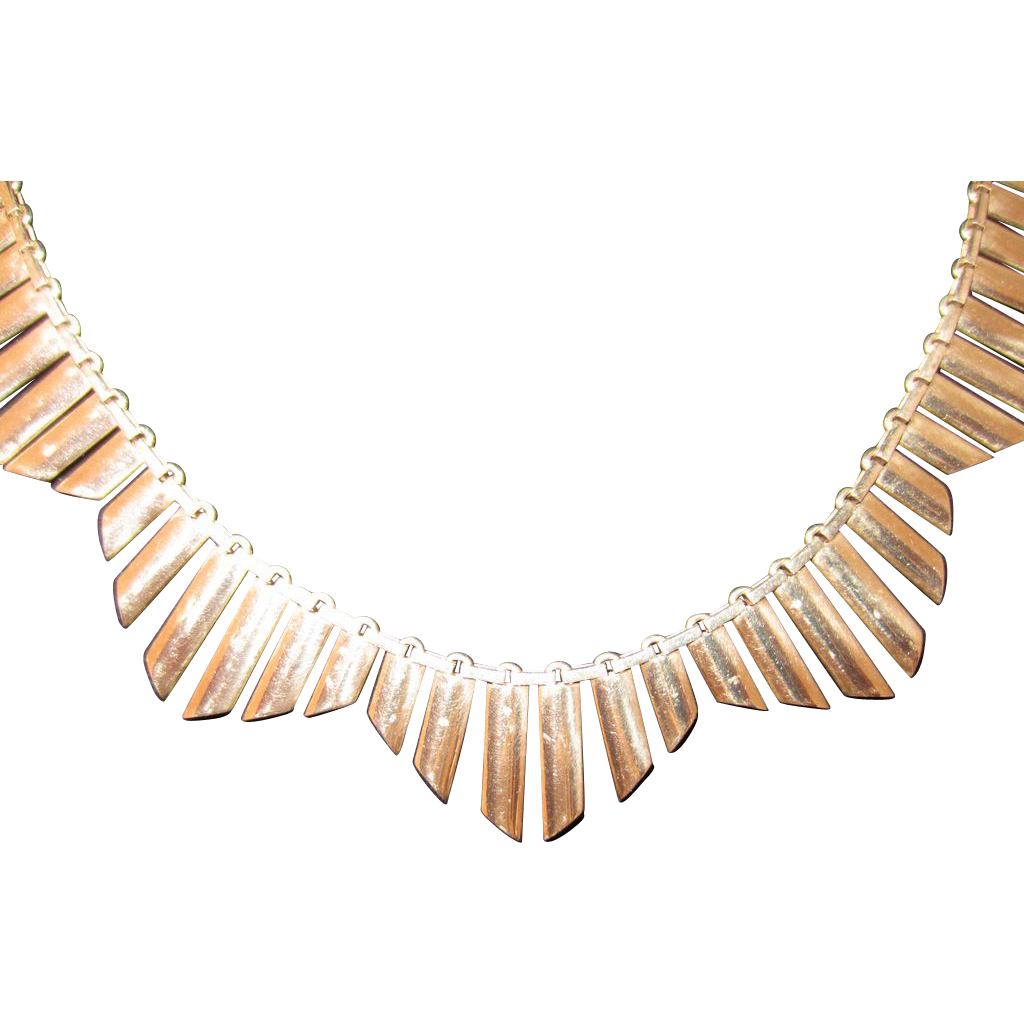 Vintage, English 9k Collar Necklace