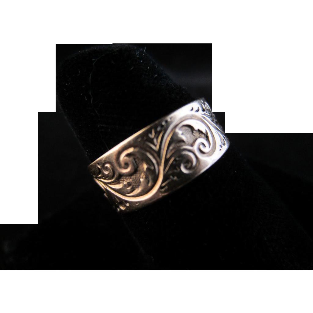10k Rose Gold Victorian Engraved Ring