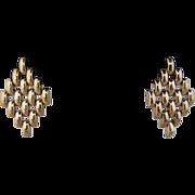 Linked 9k Yellow Gold Italian Earrings
