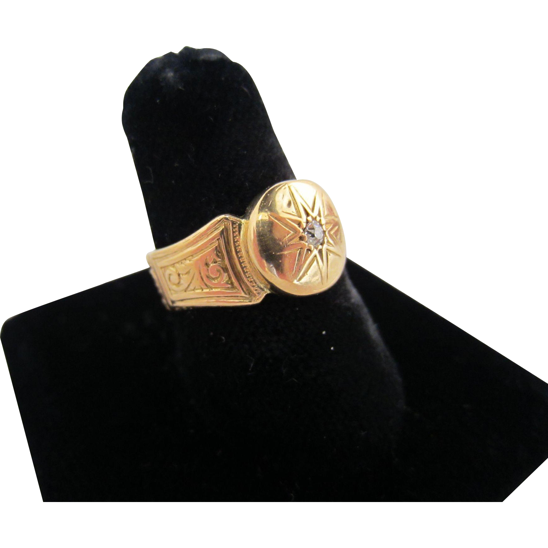 18k Yellow Gold and Diamond Ring - Birmingham 1846