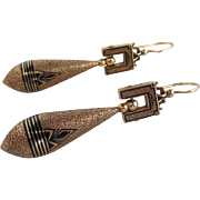 Victorian Taille d'Epargne Drop Earrings