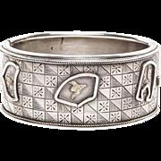Late Victorian Silver Bangle Bracelet