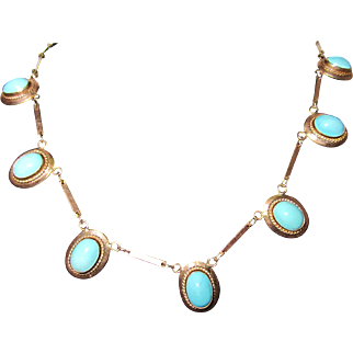 14k and Turquoise Necklace