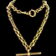 "9ct 20"" Long Watch Chain"
