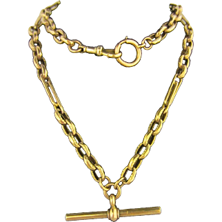 "9ct 20"" Long Watch Chain"