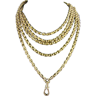 "58"" Long 9ct Watch Chain"