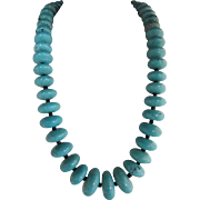 1940s Navajo Turquoise Bead Necklace