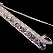 Antique Edwardian Platinum & 4 cttw Diamond Pin