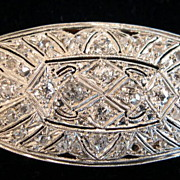 Edwardian Platinum & Gold 1.70cttw Diamond Brooch