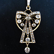 18k Gold and Diamond Pendant