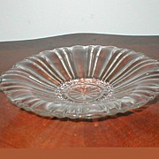 """Depression Glass """"Old Cafe""""  Closed Handle Candy Bowl"""