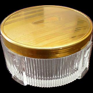 Vintage Glass Powder Jar