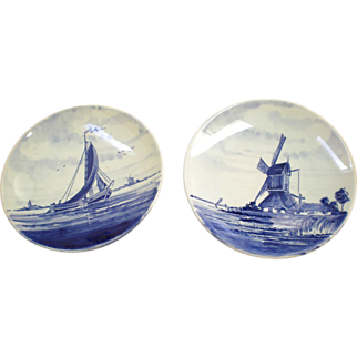 Delft Blue Plates by Schoonhoven Holland