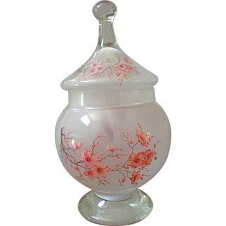 Vintage Italian Frosted Glass Candy Jar