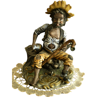 Vintage African American Hobo Sculpted Figurine
