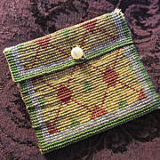 Deco Beaded Change Purse or Doll Purse