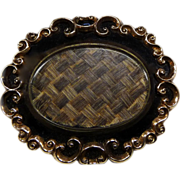 Antique Victorian 10k Enameled Hair Brooch