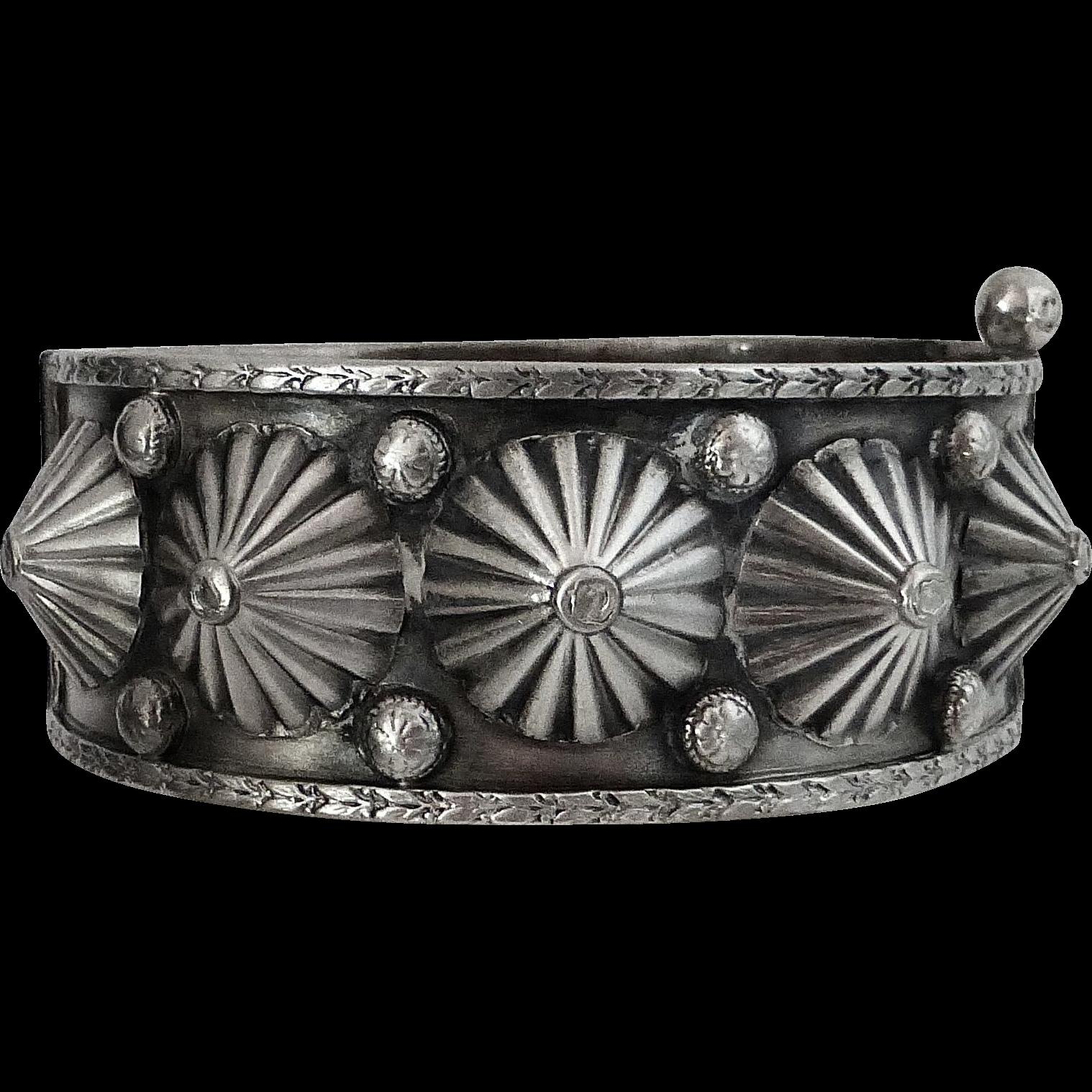 Birks Sterling Sculptural Hinged Bangle Bracelet