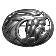 Sensual Georg Jensen Fruit & Leaves Pin #65