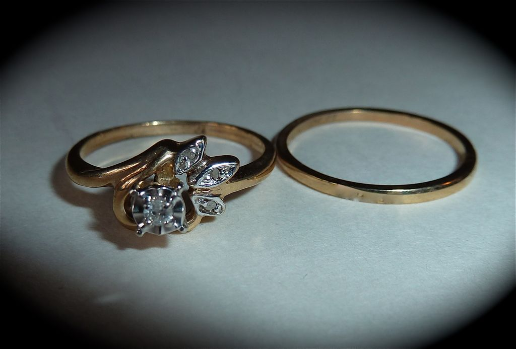 wedding band set 10k diamonds band engagement ring from